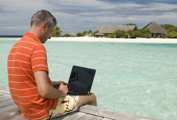 work on a beach as a travel agent job career earn more blue water